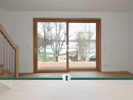 Erstbezug: 3,5 Zimmer Maisonette Wohnung im Dachgeschoß mit Seeblick! 1.Reihe!