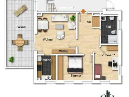 Neubau! 3-Zimmer-Wohnung mit Balkon