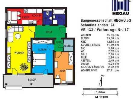 3-Zimmer-Wohnung in Singen Nord nur mit gültigem Wohnberechtigungsschein