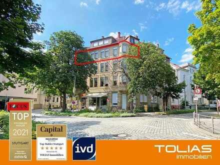 Historische Altbauwohnung nahe Kurpark: 5-Zimmer mit Erkern und hohen Decken. Denkmalschutz.