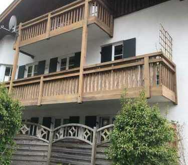 1 Zimmer Dachgeschosswohnung in Grainau Hammersbach mit Balkon