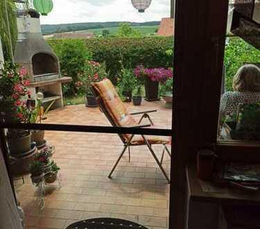 Haustier und Kinder erwünscht - Ländliche Terrassenwohnung mit Garten - in schöner Ortsrandlage