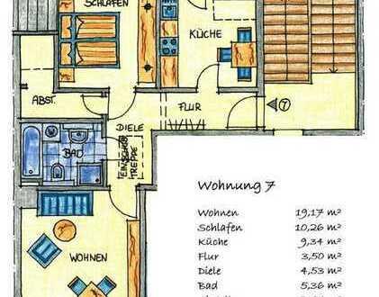 ++ Dachgeschosswohnung im Seehausgebiet, Balkon, Wanne, Dusche, Dachboden ++