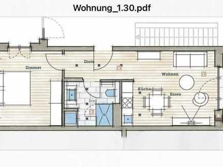 Erstbezug: exklusive 2-Zimmer-Wohnung mit Einbauküche und Balkon in Freiburg