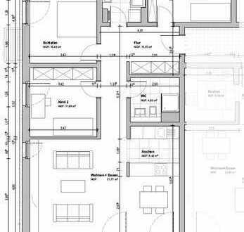 Exklusive 4-Zimmer-Wohnung mit großer Terrasse auf der Südhöhe! Fertigstellung Oktober 2019!