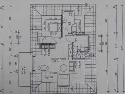 Exklusive, neuwertige 2-Zimmer-DG-Wohnung mit Balkon und Einbauküche in Ingolstadt