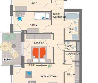 Großzügige 4,5-Zimmer-Wohnung mit Westbalkon - Erstbezug!