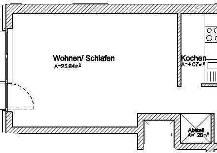 * Schöne Single-Wohnung im Kreuzviertel *