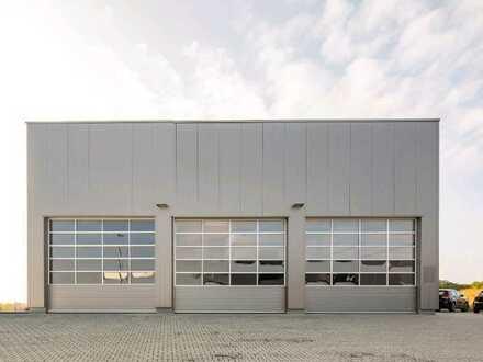Asslar Ecke Europastraße Loher Straße: 500m2 niegelnagelneue Halle + xx bis xxx m2 Büro