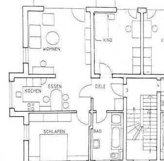 Stilvolle, gepflegte 3-Zimmer-Wohnung mit Balkon, Einbauküche, Garagenplatz in sehr guter Lage in FS