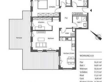 Erstbezug mit Balkon: exklusive 5-Zimmer-Wohnung in Leipzig