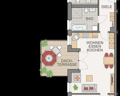 Blick über die Dächer - 3-Zi. + Dachterrasse