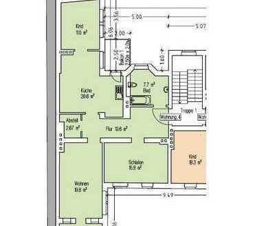 4 Raum-Wohnung mit Balkon