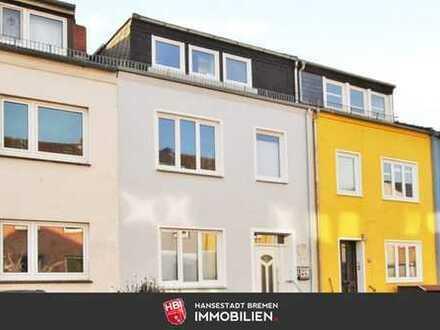 Findorff / Attraktives und familienfreundliches Reihenhaus mit Süd-West-Terrasse und Garten