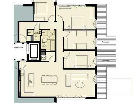 +Familienwohnung mit 5 bis 6 Zimmern und Panoramaterrasse+ Gästebad, Lift und Sauna
