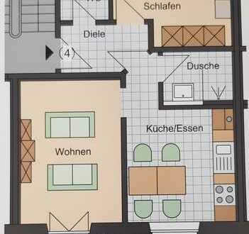 Erstbezug - 2 Zimmer Whg. mit Balkon zu vermieten