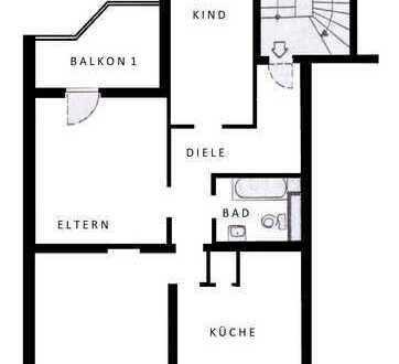 Schöne drei Zimmer Wohnung in Aachen, am Rand des Frankenberger Viertels