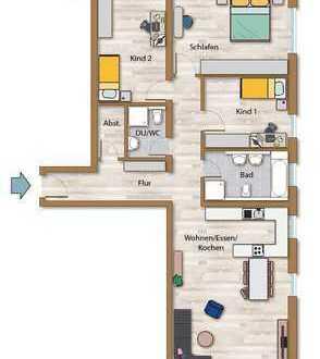 Neubau Wohnung mit 2 Balkonen in Nord-u.Südausrichtung!