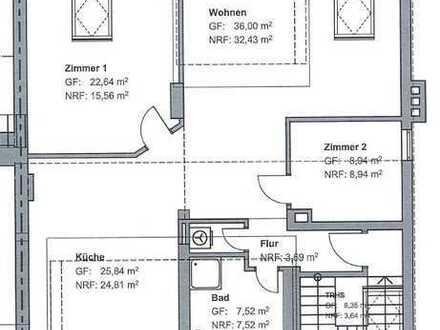 Erstbezug 3-Zimmer-Loft-Wohnung in Essen mit Blick ins Grüne
