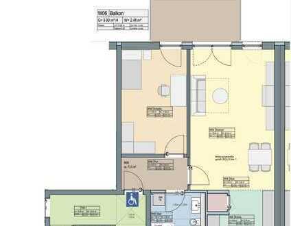 2-Zi.-Wohnung mit EBK u. großem Balkon, barrierefrei
