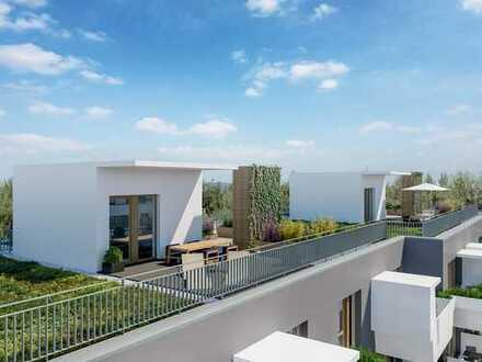 Eine idyllische Oase des Wohnens: 3-Zi.-Wohnung mit ca. 45 m² Terrasse in schöner Umgebung