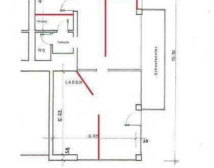 Werbewirksame Lage: Ladenlokal bzw. 4-Raum Büro