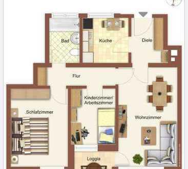 Ruhige sonnige 3-Zi.-Wohnung mit Westausrichtung und Blick ins Grüne