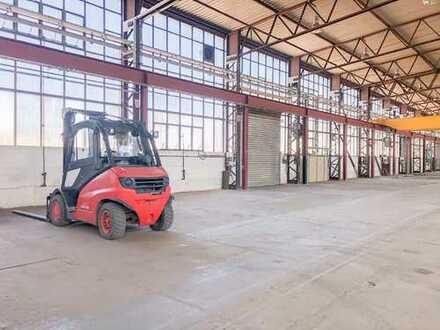 Rund 2.000 m² Halle mit 5t, 10t, 25t Kranbahn in Dresden zur Miete