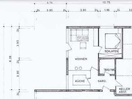 Attraktive 2-Zimmer-Wohnung mit Terrasse und EBK in Loßburg