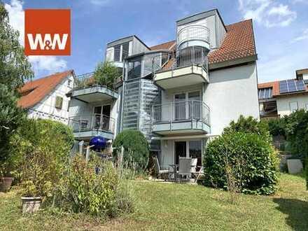 Schöne EG-Wohnung mit großem Gartenanteil und mehreren Terrassen in Weissach-Flacht zu verkaufen!