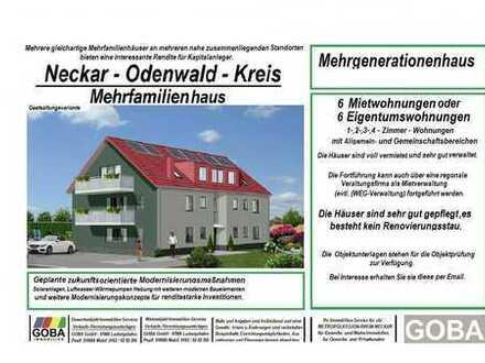 Neckar - Odenwald - Renditeobjekt: Mehrfamilienhaus 6 Mieteinheiten