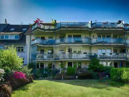 Dachterrasse&Sonnenbalkon mit zwei Bädern&Garage in Grünlage!