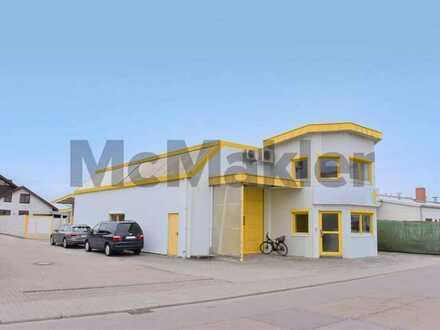 Vielseitig nutzbare Gewerbehalle mit Büro- und Lagerflächen in einem zentrumsnahen Industriegebiet