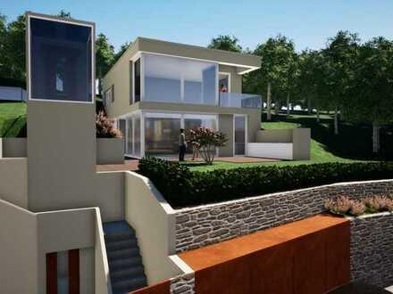 ** RESERVIERT** Baugrundstück in bester Hanglage für Bauhaus-Villa