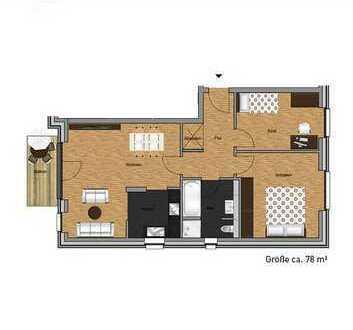 Neubau! Hochwertige 3-Zimmer §5-Schein Wohnung! WBS erforderlich