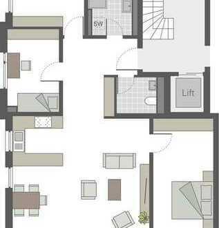 Großzügige 4-Zimmerwohnung mit offener Küche und sonnigem Südbalkon