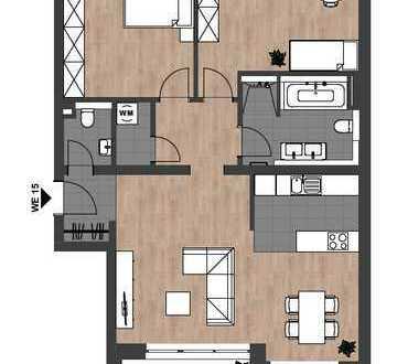 Erstbezug: Helle, moderne 3-Zimmer-Wohnung mit Balkon in zentraler Lage