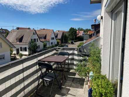 Sonnige 3-Zimmer-DG-Wohnung mit Balkon in ruhiger Lage