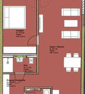 2 - Zimmer Neubau Wohnung im HH - Bahrenfeld mit Balkon Richtung Hinterhof