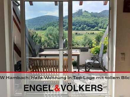 NW Hambach: Helle Wohnung in Top-Lage mit tollem Blick & Garage!