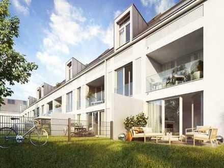 Zeitgemäß Wohnen! Studio mit hochwertiger Ausstattung und privatem Garten in Harlaching