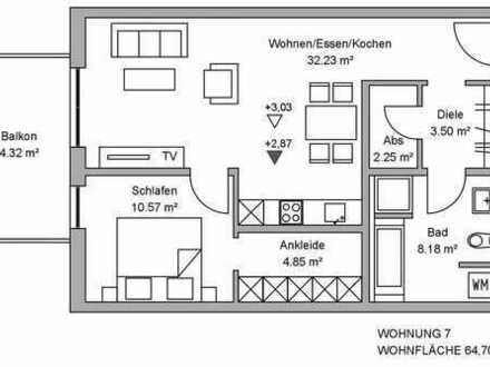 A96: NEUBAU - ATTRAKTIVE 2 ZIMMER WOHNUNG MIT WESTBALKON IN TÜRKHEIM