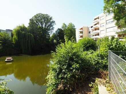 FR-Wiehre: helle 3-Zimmer-Wohnung am Teich