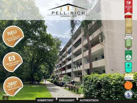 GESUCHT & GEFUNDEN: Bezugsfreie 3-Zimmer Wohnung mit Blick ins Grün in der Waldstadt