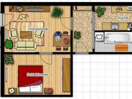 Schicke 2-Raum-Wohnung wartet auf neue Mieter - 566 € Grundmietenerlass.