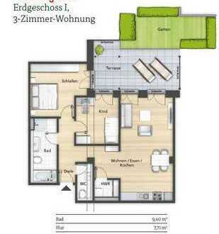 Wunderschöne 3 Zimmerwohnung in der Innenstadt in Herzogenaurach