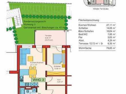 Erstbezug: attraktive 3-Zimmer-EG-Wohnung mit EBK und Terasse in Altusried