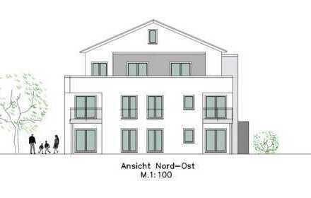 Neubau Eigentumswohnungen mit Aufzug und Tiefgarage.