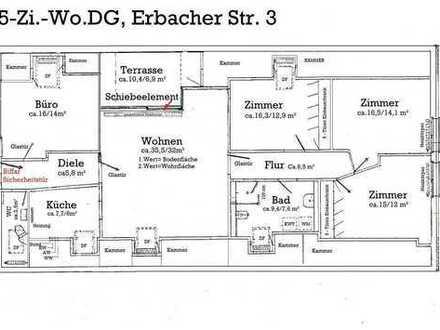 5-Zimmer, Küche, Bad, Gäste-WC, Komfortwohnung, Rhein-Neckar-Kreis, Ilvesheim