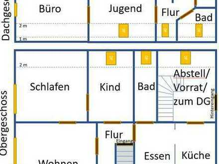 Renovierte 5-Zimmer-Ober/Dachgeschosswohnung mit EBK in Schutterwald